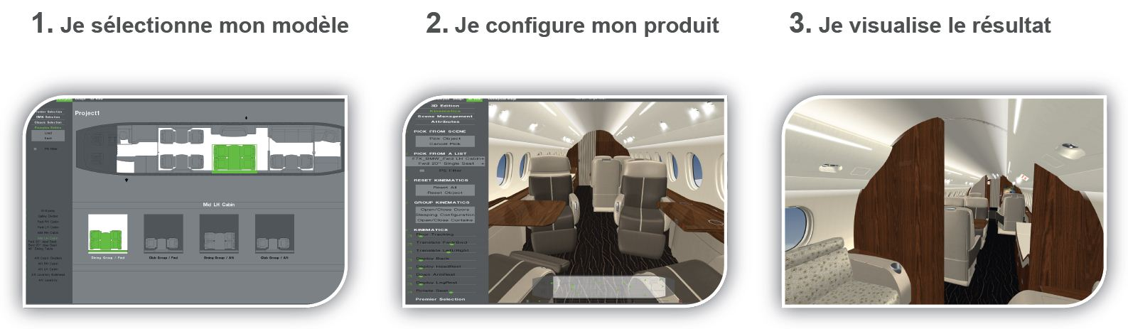 Gestion 3 étapes 3D Product Configurator