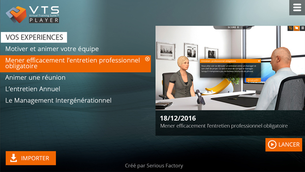 VTS Player : une application qui facilite la diffusion de vos Serious Games